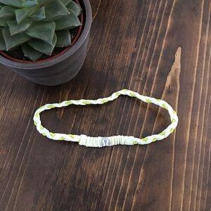 🍋 lululemon - skinny headband - braided green